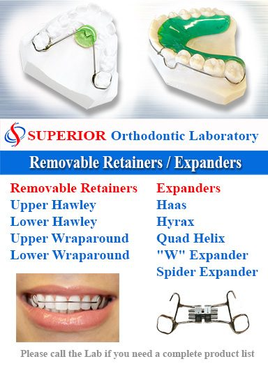 Removable Retainers & Expanders Superior Ortho Lab